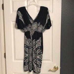 Women's Black and White Dress